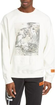 Heron Preston Heron Birds Organic Cotton Graphic Sweatshirt