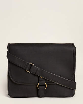 Pavia Black Ring Laptop Messenger Bag