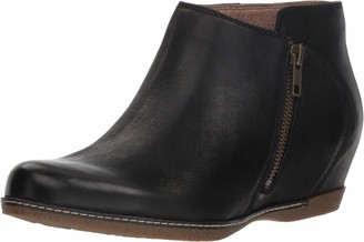 Dansko Women's Leyla Black Hidden Wedge Bootie 6.5-7 M US