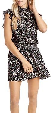 1 STATE Smocked Flutter Sleeve Dress