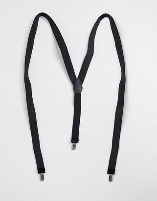 ASOS DESIGN velvet suspenders in black
