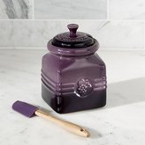 Crate & Barrel Le Creuset ® Grape Jam Jar with Spreader