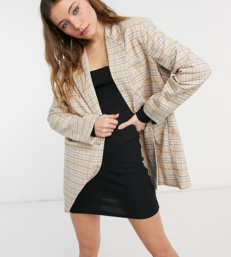 Reclaimed Vintage inspired dad blazer in check