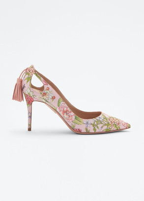 Aquazzura Forever Marilyn Cutout Floral Pumps