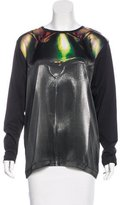 Barbara Bui Digital Printed Jersey Top w/ Tags
