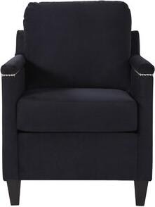 Winston Porter Raiford Armchair Upholstery Color: Bing Black