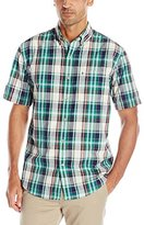 Izod Men's Saltwater Poplin Short Sleeve Shirt