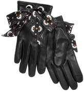 Echo Foulard Bow Leather Gloves