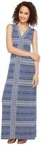 Tommy Bahama Greek Grid Sleeveless Maxi Dress Women's Dress
