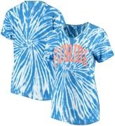 Unbranded Women's ZooZatz Royal Florida Gators Tie Dye Soft V-Neck T-Shirt