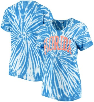 Women's ZooZatz Royal Florida Gators Tie Dye Soft V-Neck T-Shirt