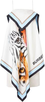 Burberry Animalia-Print Scarf Dress
