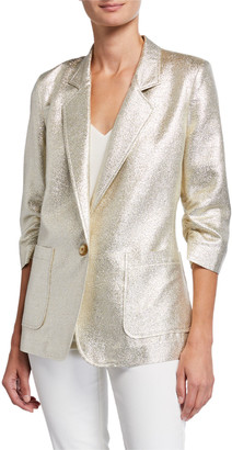 Berek Metallic Push-Up One-Button Blazer