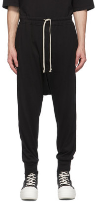 Rick Owens Black Prisoner Lounge Pants