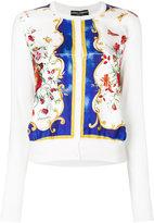 Dolce & Gabbana floral print cardigan - women - Silk - 40
