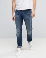 Esprit Slim Fit Jeans in Mid Blue Wash