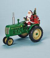 Roman Musical Santa On Tractor