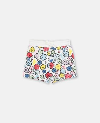 Stella McCartney smiling flowers fleece shorts