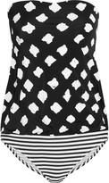 Norma Kamali Babydoll Mio strapless printed swimsuit