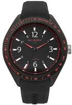 Ben Sherman Men's Quartz Watch with Black Dial Analogue Display and Black Silicone Strap WB012B
