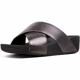 FitFlop Women's Lulu Molten Metal Open Toe Sandals