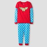 Girls' Wonder Woman Pajama Set - Blue