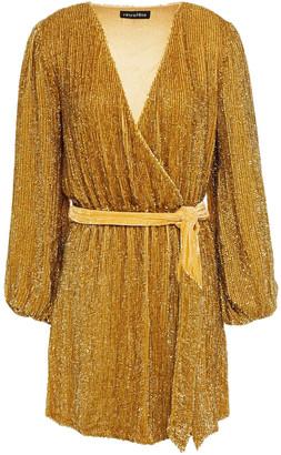 retrofete Gabrielle Velvet-trimmed Sequined Chiffon Mini Dress