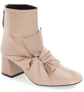 Topshop Women's 'Marilyn' Square Toe Bow Bootie