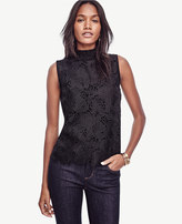 Ann Taylor Lace Front Sleeveless Top