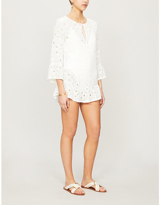 Vix Broderie anglaise woven top