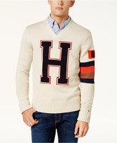 Tommy Hilfiger Men's H Varsity Logo V-Neck Sweater