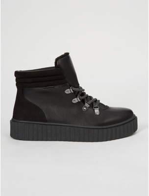 George Black Creeper Utility Ankle Boots