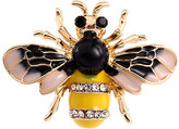 Ella & Elly Women's Brooches and Pins Yellow - Black & Yellow Crystal Bee Brooch