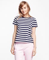 Brooks Brothers Pointelle Knit Top