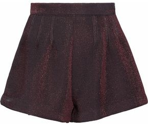 RED Valentino Metallic Knitted Shorts