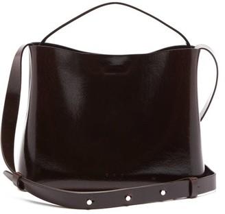 Aesther Ekme Sac Patent-leather Cross-body Bag - Dark Brown