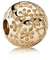 Pandora Clip - 14K Gold Floral Lucerne, Moments Collection