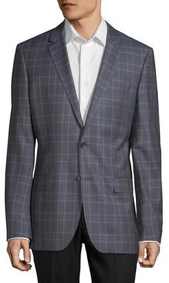 HUGO BOSS Plaid Wool Jacket