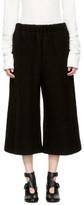 MM6 Maison Martin Margiela Black Cropped Casentino Trousers