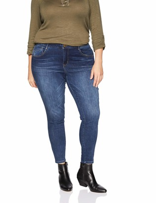 Democracy Women's Plus Size Ab Solution High Rise Ankle Jean