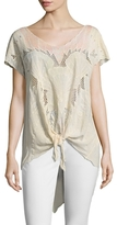 Free People Castaway Eyelet And Embroidered Tunic
