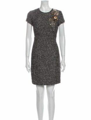 Oscar de la Renta 2009 Mini Dress Wool