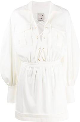 L'Autre Chose Short Lace-Up Dress