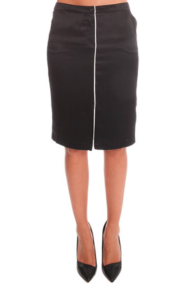 Anthony Logistics For Men Atm By Thomas Melillo ATM Self Piping Silk Pencil Skirt