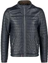 Oakwood Leather Jacket Navy Blue