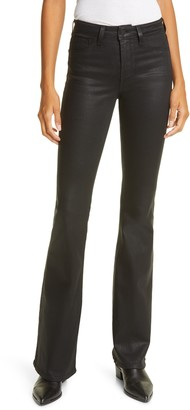 L'Agence Bell Coated Flare Jeans