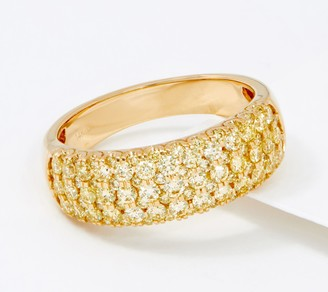 Affinity Diamond Jewelry Affinity 14K Gold Natural Yellow Diamond Band Ring, 1.00cttw