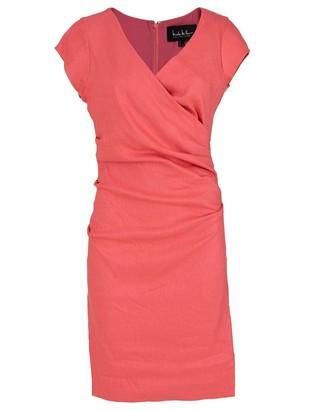 Nicole Miller Beckett V-Neck Linen Cap Sleeve Dress