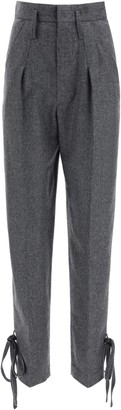 Isabel Marant Tacoma High-Waisted Ankle Tie Pants