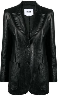 MSGM Faux-leather Jacket